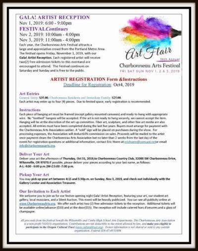 Artist Registration Form & Instructions